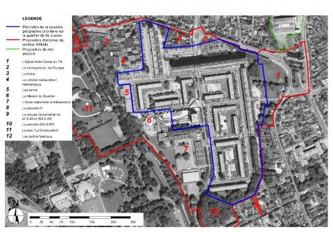 ARVAL architecture - NPNRU – Etude quartier Saint-Lucien – Beauvais - 4 1509-St Lucien-analyse urbaine-limites d'intervention