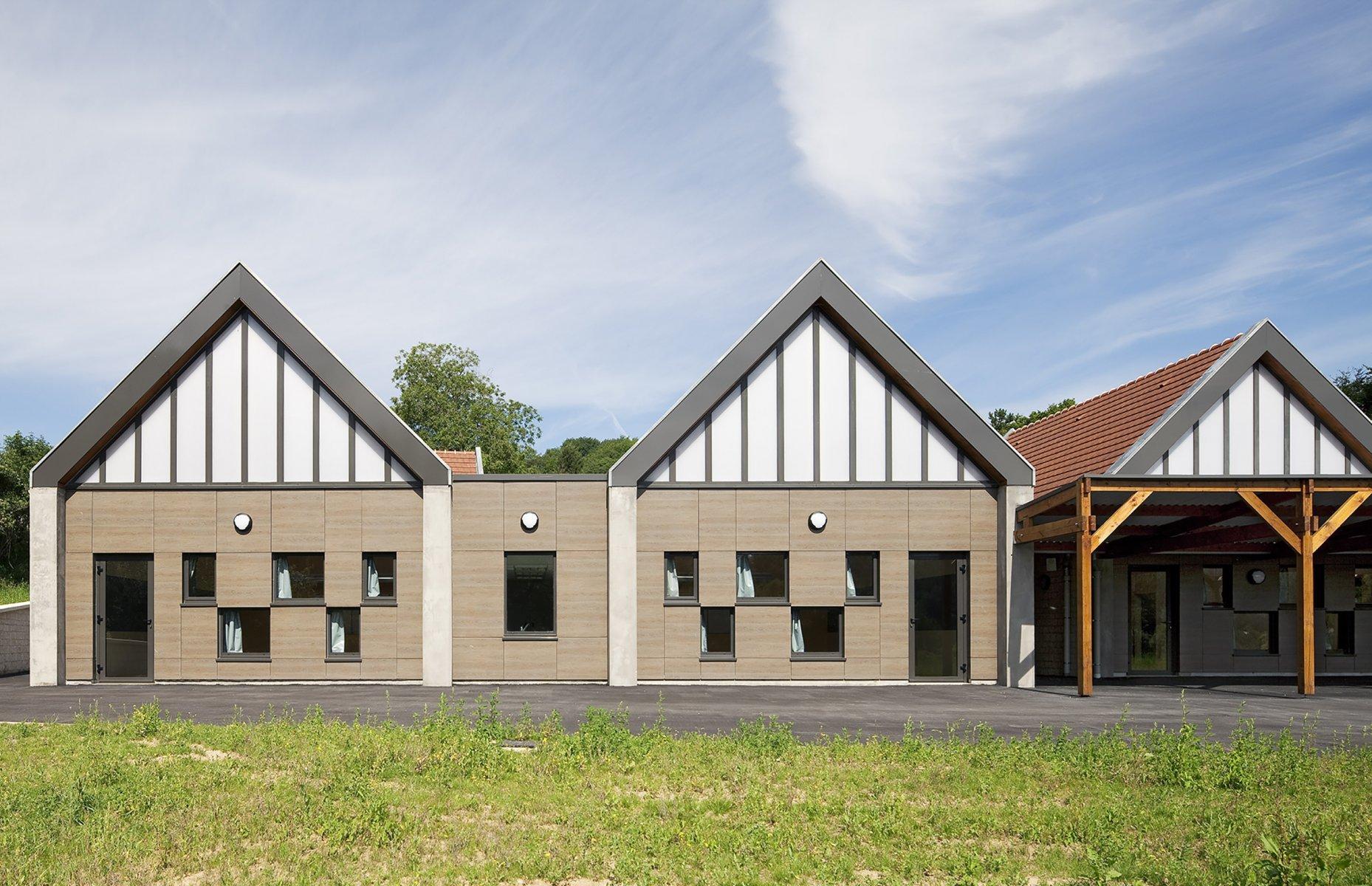 ecole primaire morienval arval architecture. Black Bedroom Furniture Sets. Home Design Ideas