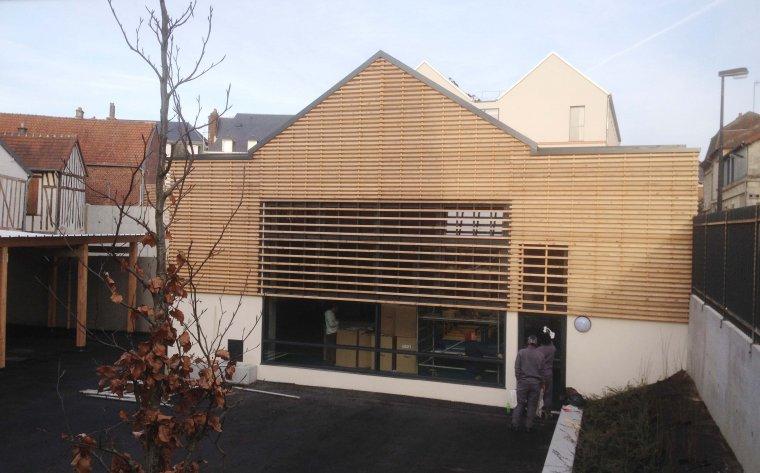 ARVAL architecture - Institution Notre Dame – Noyon - 5 ARVAL Ecole Notre Dame Noyon vue salle de sport