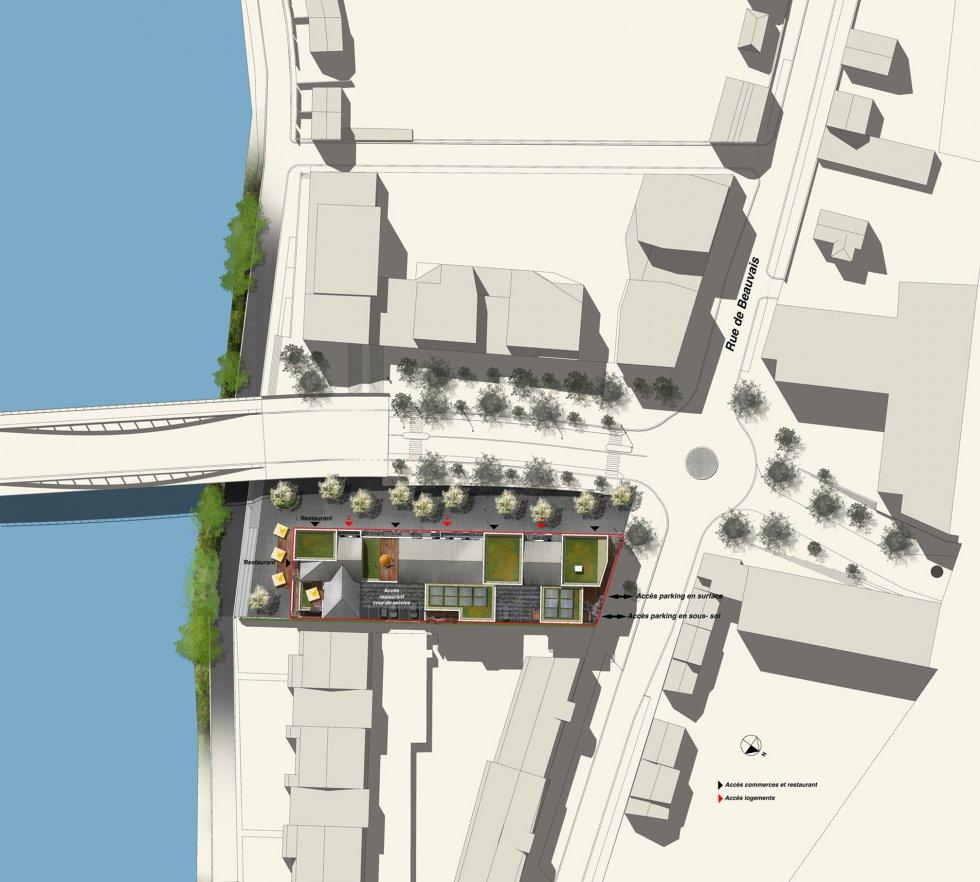 ARVAL architecture - ZAC des 2 Rives-Ilot D – Margny-les-Compiègne - 3 arval zac des 2 rives ilot D 3