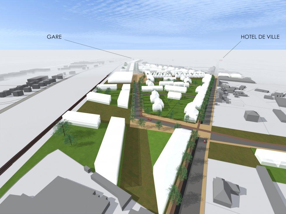 ARVAL architecture - Aménagement quartier de la gare – Chauny - 4 arval quartier gare chauny 4