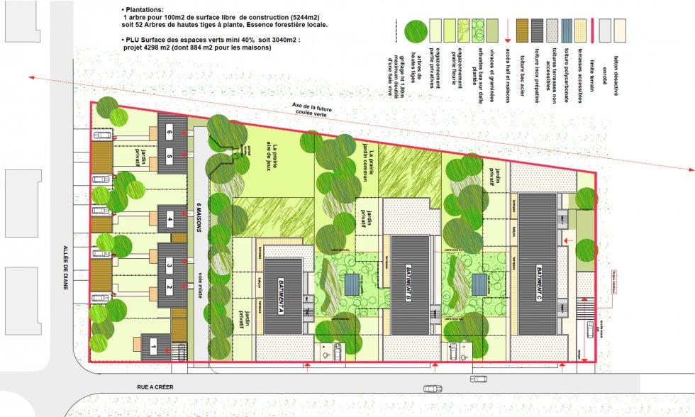 ARVAL architecture - 63 logements «25 RGA» – Compiègne - 1 arval 63 logements 25 RGA 1