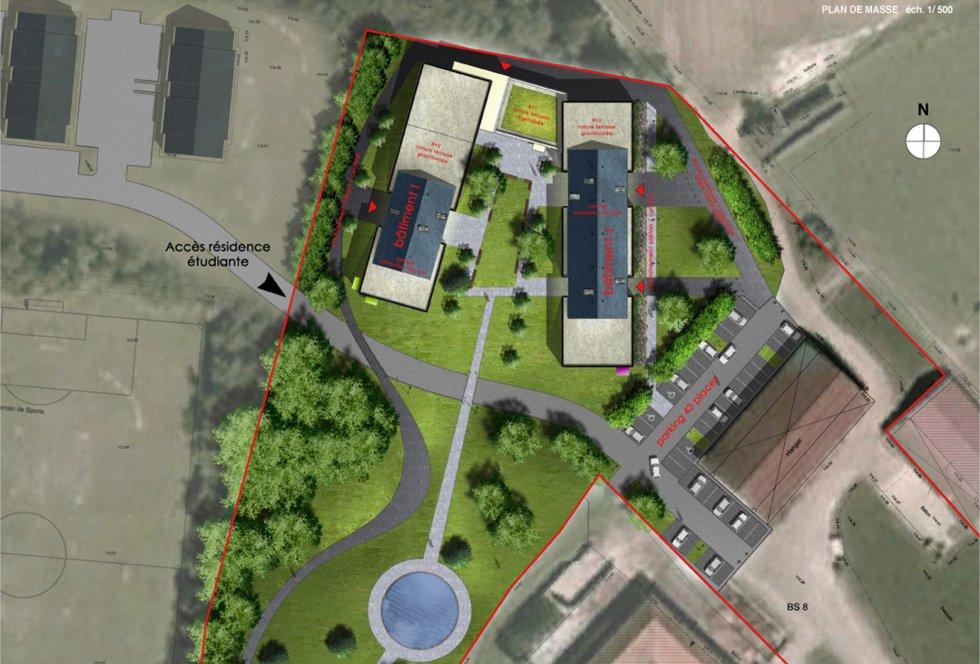 ARVAL architecture - Résidence étudiants Lassalle – Beauvais - 1 Arval Résidence étudiante Lassalle1