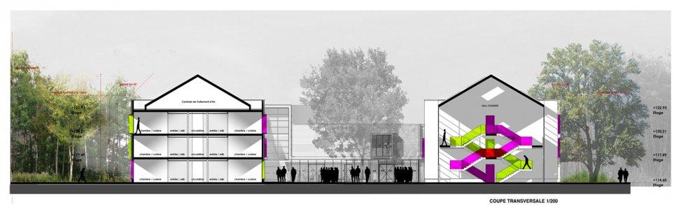 ARVAL architecture - Résidence étudiants Lassalle – Beauvais - 3 Arval Résidence étudiante Lassalle3