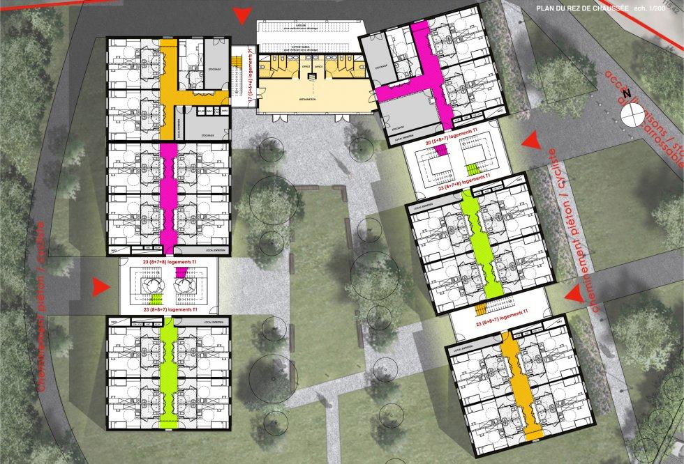 ARVAL architecture - Résidence étudiants Lassalle – Beauvais - 6 Arval Résidence étudiante Lassalle6