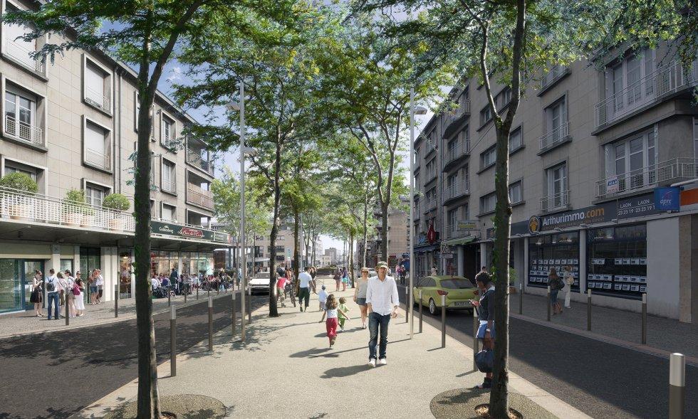 ARVAL architecture - Aménagement du boulevard Brossolette – Laon - 2 arval bd brossolette laon