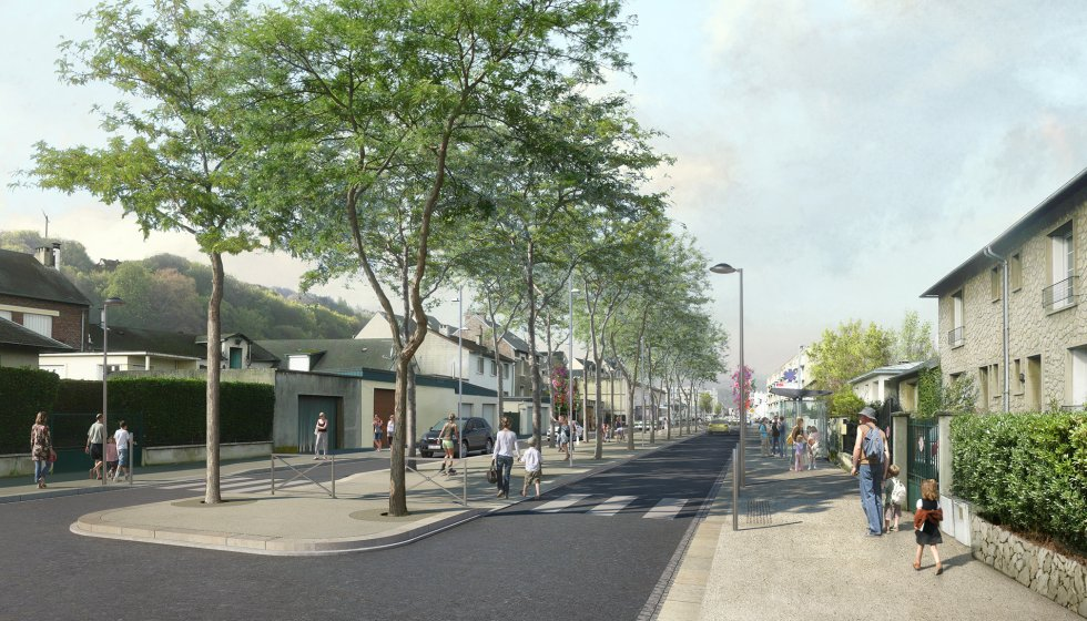 ARVAL architecture - Aménagement du boulevard Brossolette – Laon - 3 arval bd brossolette laon