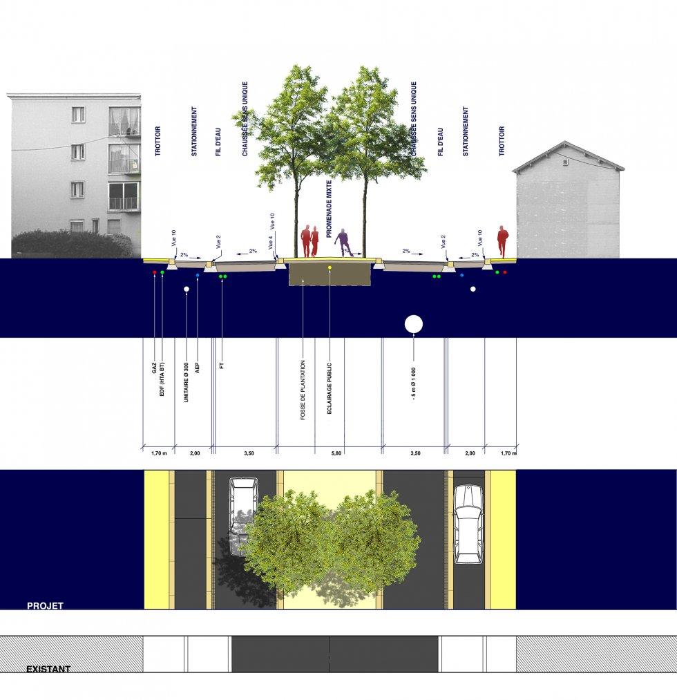 ARVAL architecture - Aménagement du boulevard Brossolette – Laon - 5 arval bd brossolette laon
