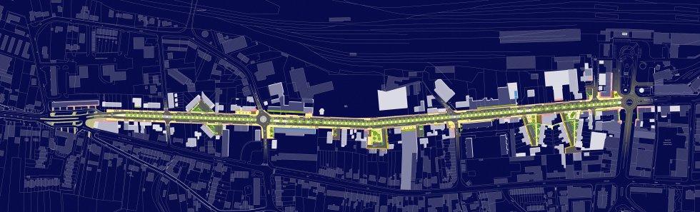 ARVAL architecture - Aménagement du boulevard Brossolette – Laon - 1 arval bd brossolette laon