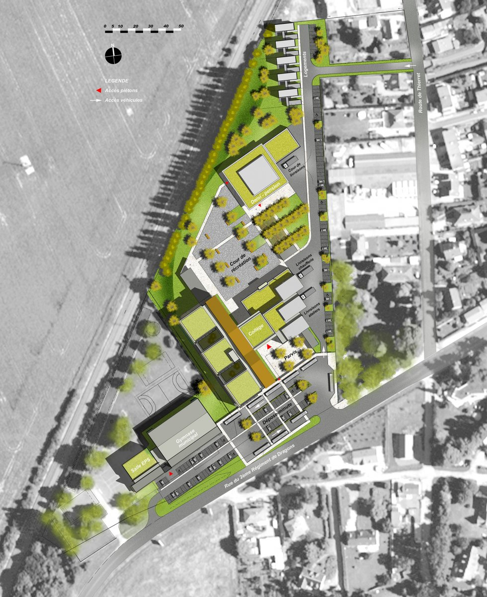 ARVAL architecture - Collège Jean Mermoz – Laon - 1 arval collège jean mermoz laon