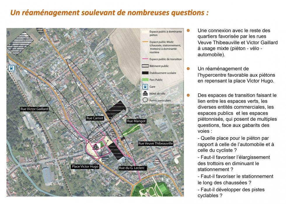 ARVAL architecture - Etude déplacements urbain – Moreuil (80) - 1 Extrait du diagnostic - carte de situation