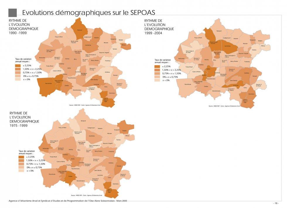 ARVAL architecture - SCOT de l'Oise Aisne Soissonnaises (60-02) - 1 Extrait du diagnostic - Thème population