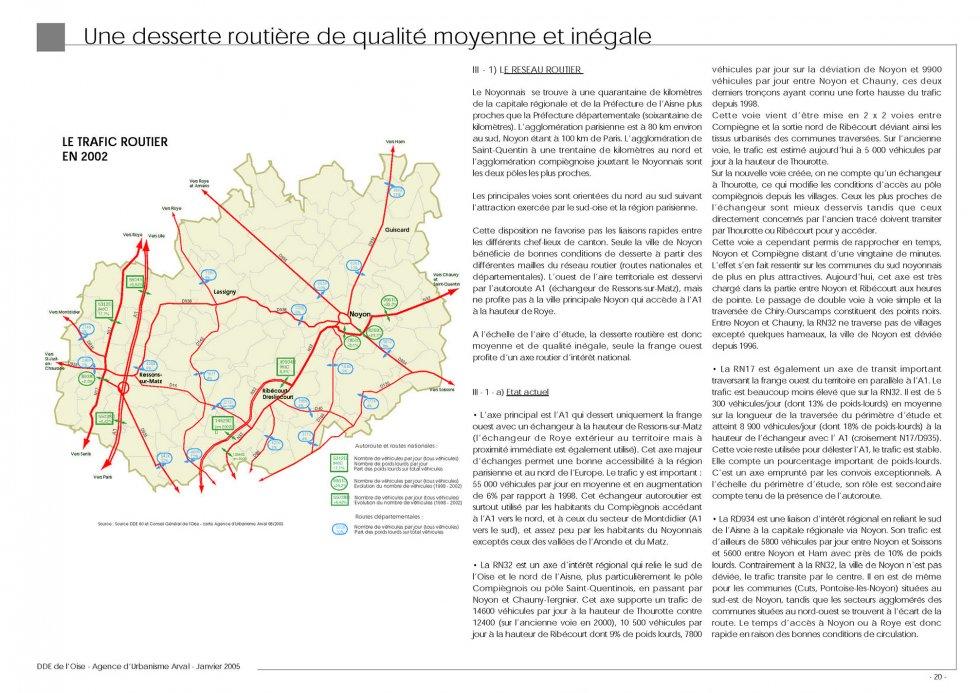 ARVAL architecture - Diagnostic territorial du Noyonnais (60) - 1 Extrait du diagnostic - Thème transport