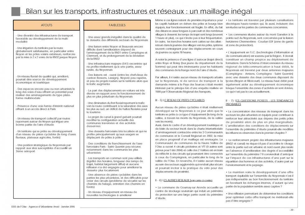 ARVAL architecture - Diagnostic territorial du Noyonnais (60) - 3 Extrait du diagnostic - Thème transport - bilan