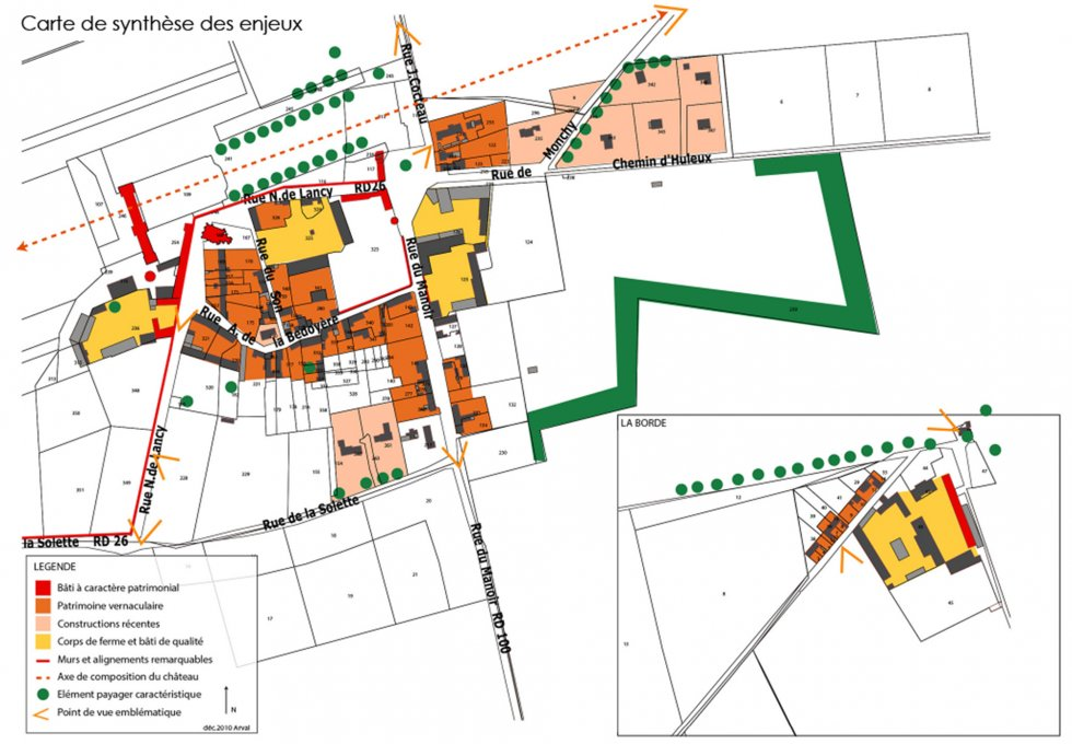 ARVAL architecture - PLAN LOCAL D'URBANISME (PLU) – RARAY (60) - 2 PLU Raray - extrait du diagnostic - carte des enjeux