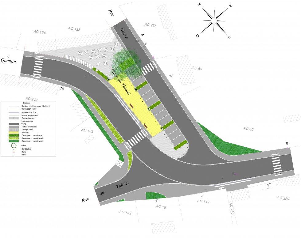 ARVAL architecture - Place du Thiolet – Itancourt - 1 ARVAL place Itancourt