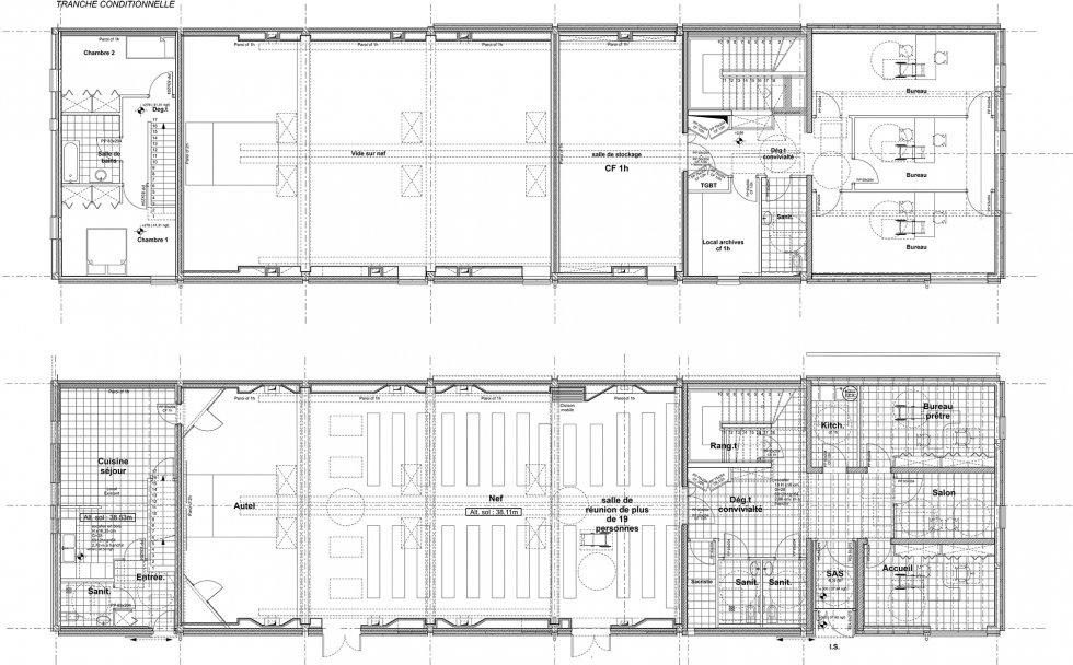 ARVAL architecture - Maison paroissiale – Cuise-la-Motte - 11 Arval Chapelle Cuise la Motte