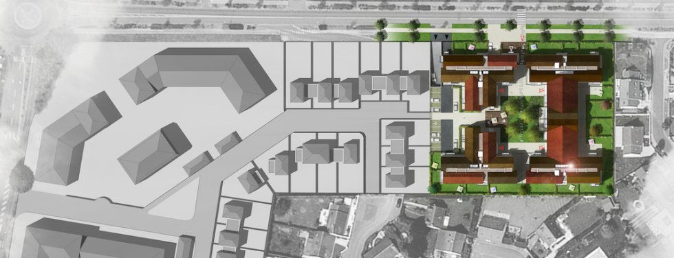 ARVAL architecture - Logements – Plessis Belleville - 1 ARVAL Logements Plessis Bellville - plan de masse