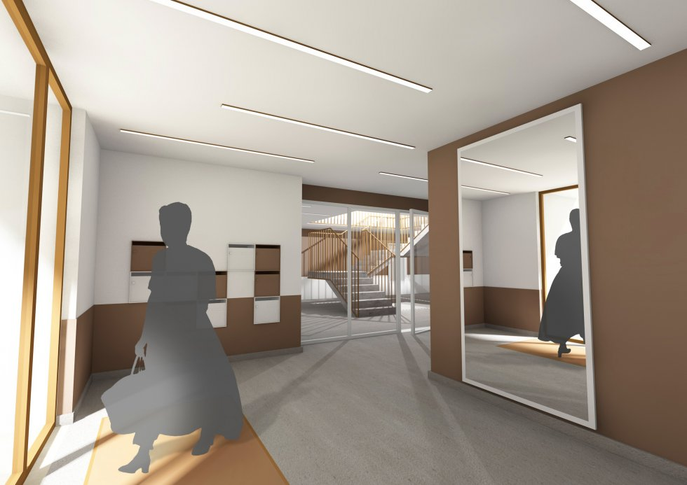 ARVAL architecture - Logements – Plessis Belleville - 6 ARVAL Logements Plessis Bellville - vue hall