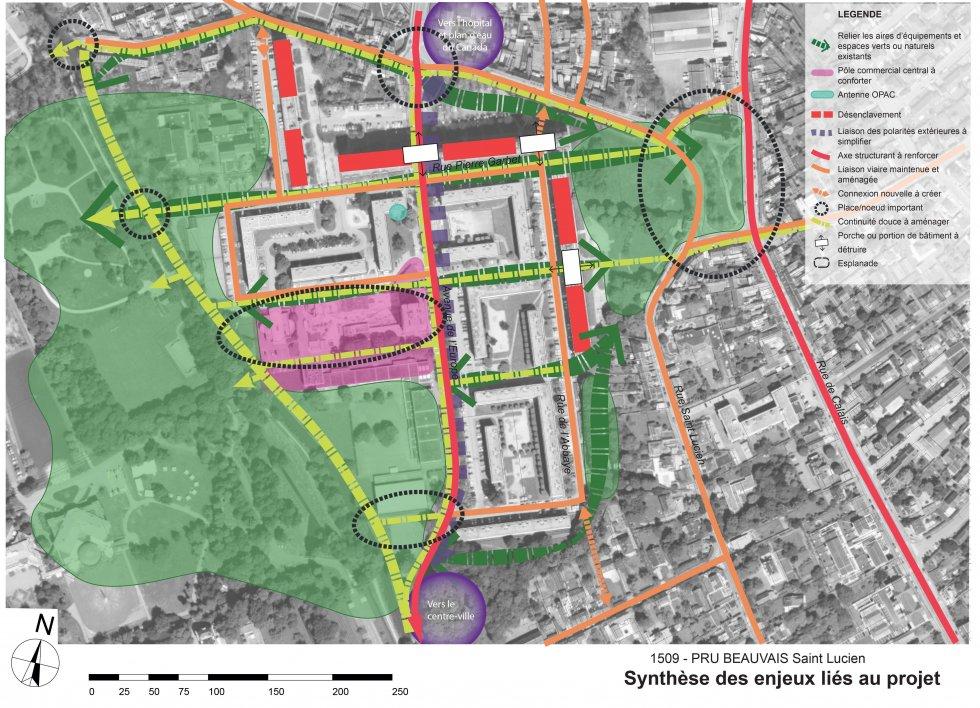 ARVAL architecture - NPNRU – Etude quartier Saint-Lucien – Beauvais - 8 1509-St Lucien-analyse urbaine-synthèse des enjeux
