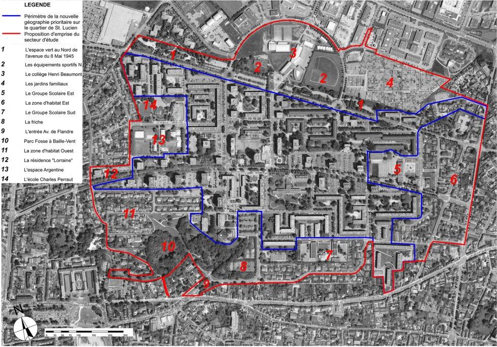 ARVAL architecture - NPNRU – étude quartier Argentine – Beauvais - 4 ARVAL NPRU Argentine-limites d'intervention