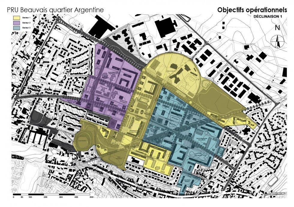 ARVAL architecture - NPNRU – étude quartier Argentine – Beauvais - 9 ARVAL NPRU Argentine-sous secteurs