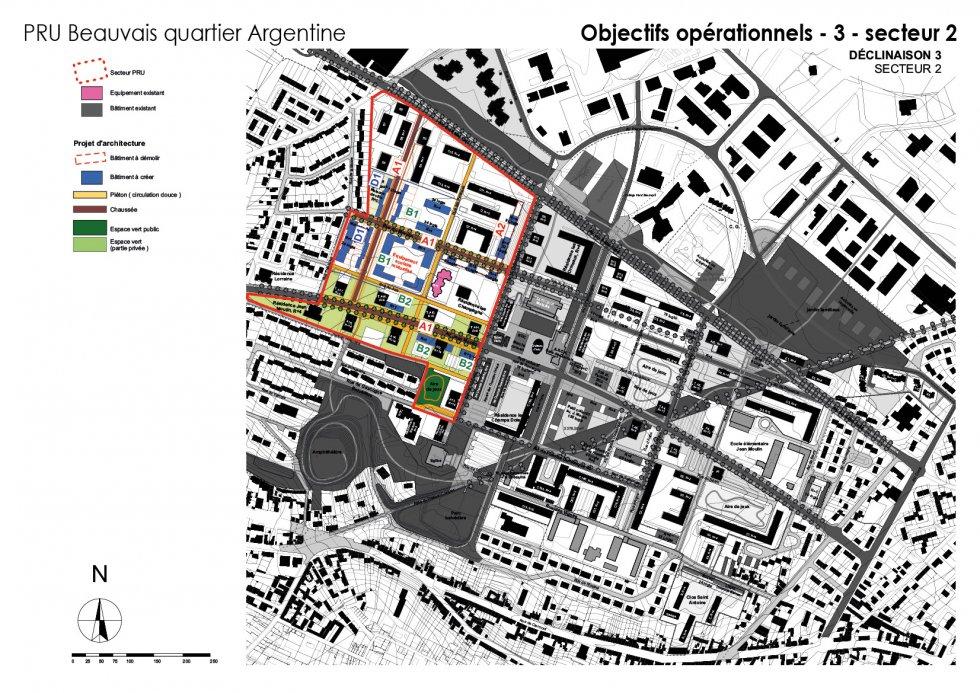 ARVAL architecture - NPNRU – étude quartier Argentine – Beauvais - 11 ARVAL NPRU Argentine-onjectifs opérationnels secteur 2