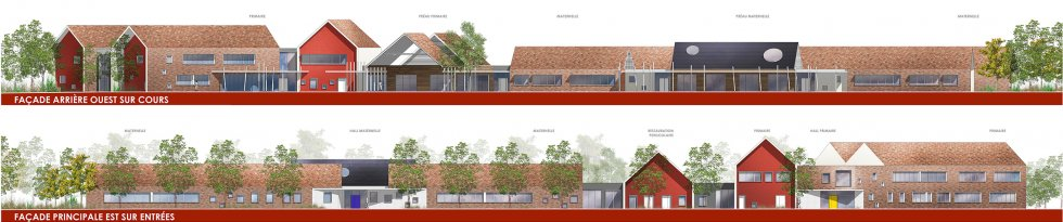 ARVAL architecture - Ecoles St. Exupéry et Weissenburger – Noyon - 9 ARVAL Ecole St Exupéry à Noyon  - façades