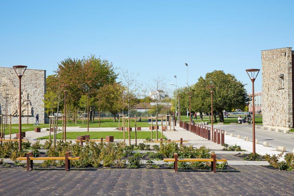 ARVAL architecture - Cité scolaire-Espaces extérieurs – Amiens - 5 arval cité scolaire amiens