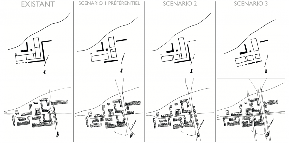 ARVAL architecture - NPNRU – Etude quartier Saint-Lucien – Beauvais - 13 1509-St Lucien-analyse urbaine-schémas scénarios