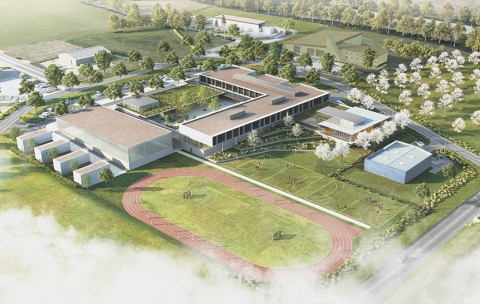 Le nouveau collège de Crèvecoeur-le-Grand