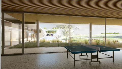 ARVAL architecture - Le nouveau collège – Crèvecoeur-le-Grand - 5 ARVAL-Nouveau collège de Crèvecoeur-le-Grand-vue préau