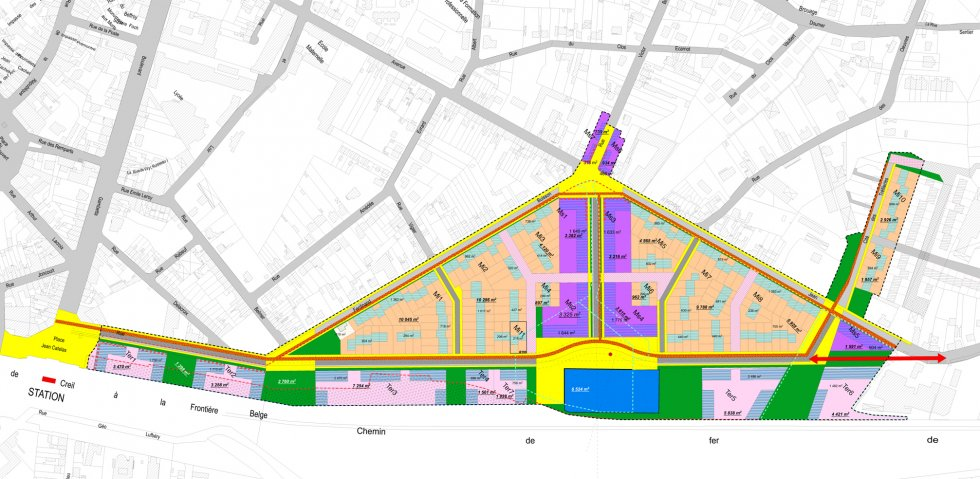 ARVAL architecture - Aménagement quartier de la gare – Chauny - 1 arval quartier gare chauny 1