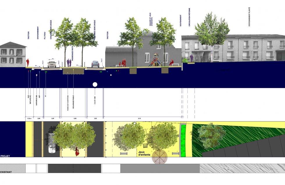 ARVAL architecture - Aménagement du boulevard Brossolette – Laon - 4 arval bd brossolette laon