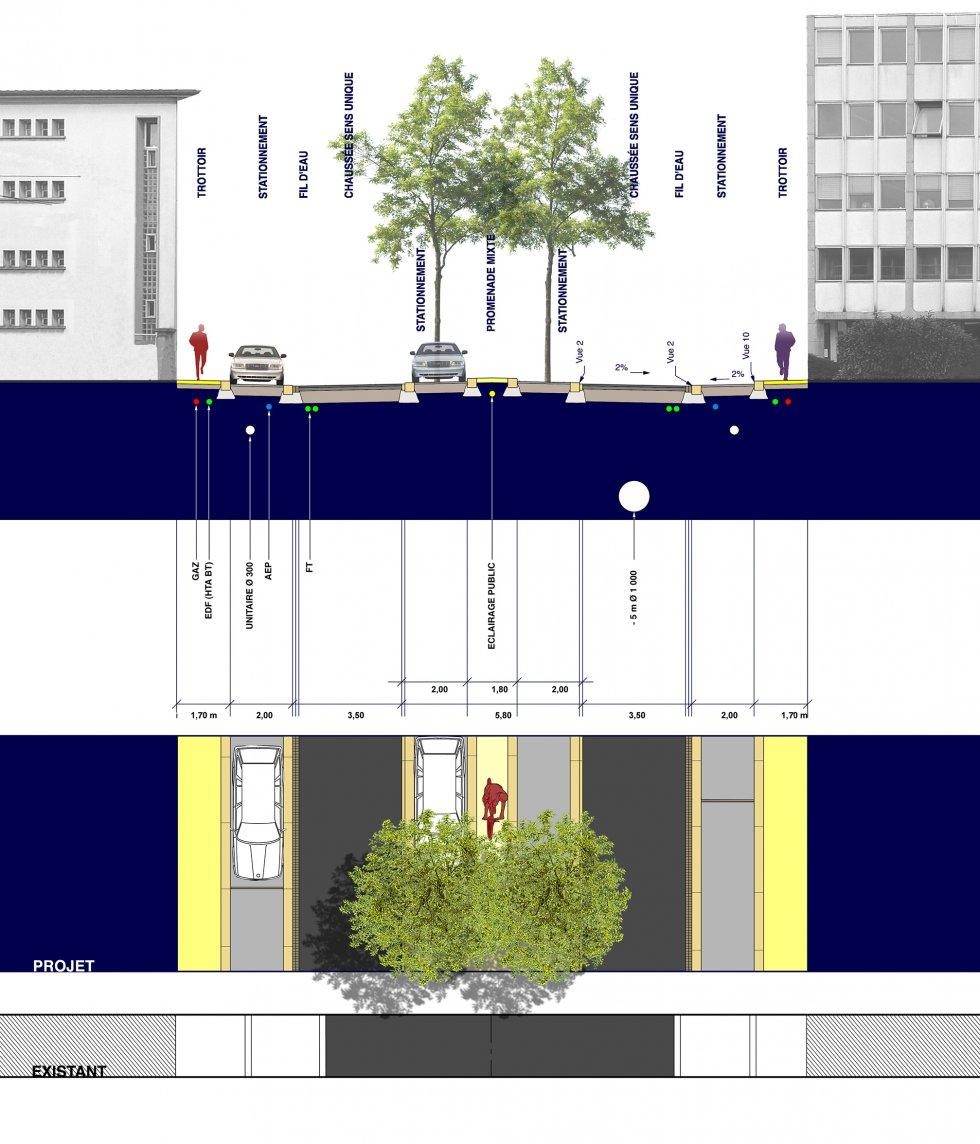 ARVAL architecture - Aménagement du boulevard Brossolette – Laon - 6 arval bd brossolette laon
