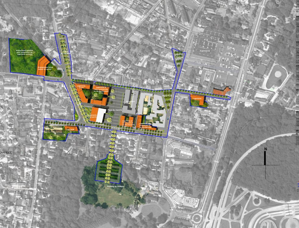 ARVAL architecture - Restructuration du centre-ville – Lamorlaye - 1 arval lamorlaye