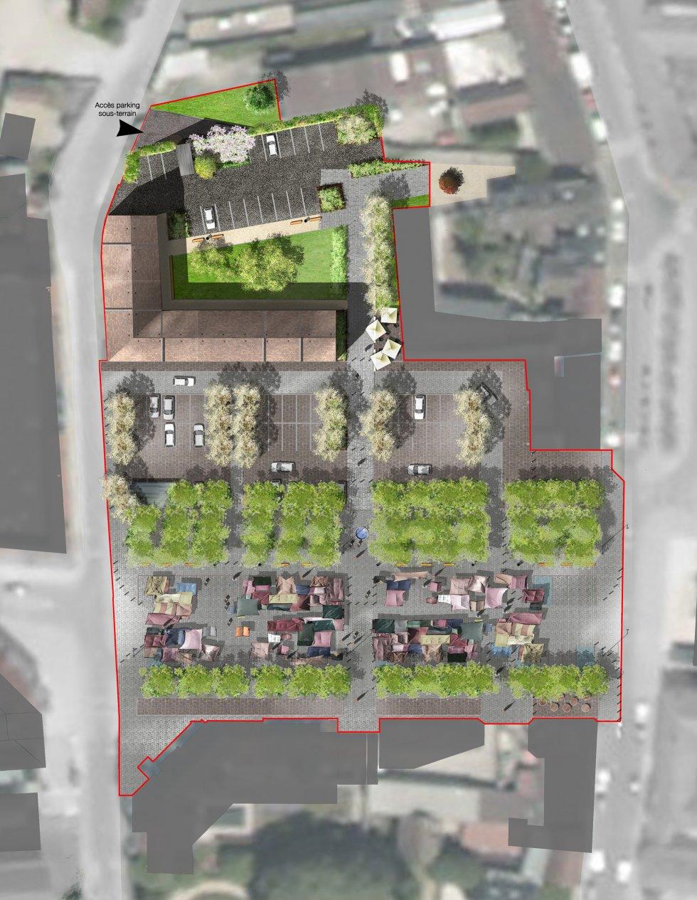 ARVAL architecture - Requalification du centre-ville – Gouvieux - 2 arval centre ville gouvieux