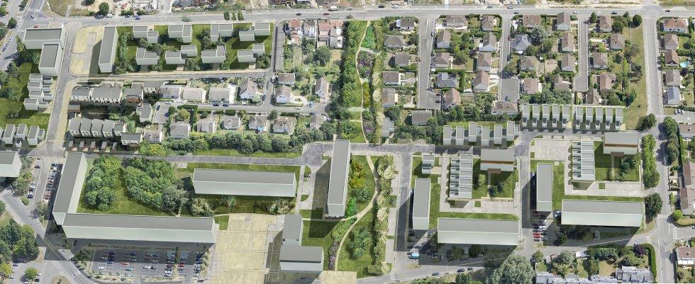 ARVAL architecture - PRUS-Quartier Le Clos des Roses – Compiègne - 3 Arval Clos des Roses Compiègne