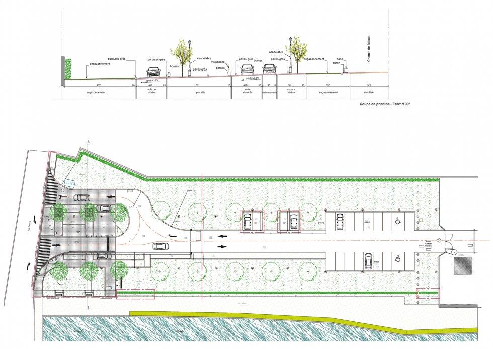 ARVAL architecture - Parking Hôtel du Département – Beauvais - 1 Arval parking Hotel du département Beauvais