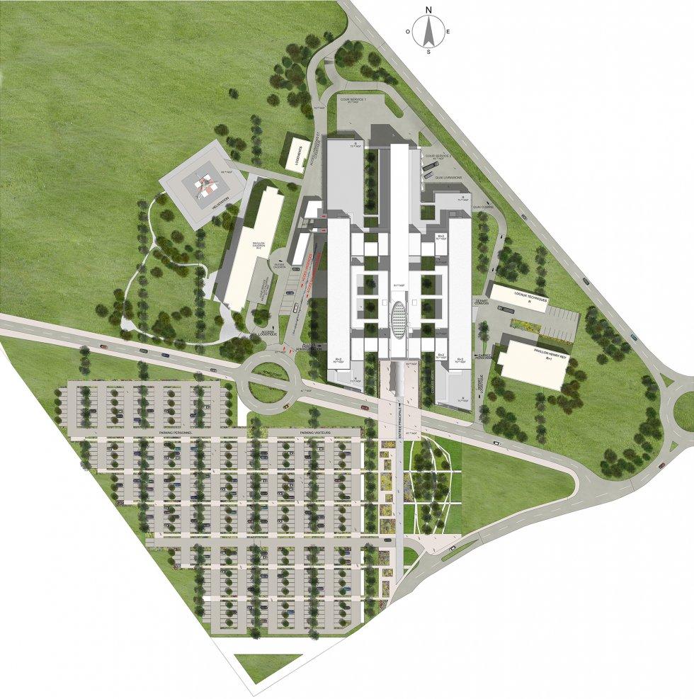 ARVAL architecture - Construction du nouvel hôpital – Péronne - 2 Arval Hopital Péronne