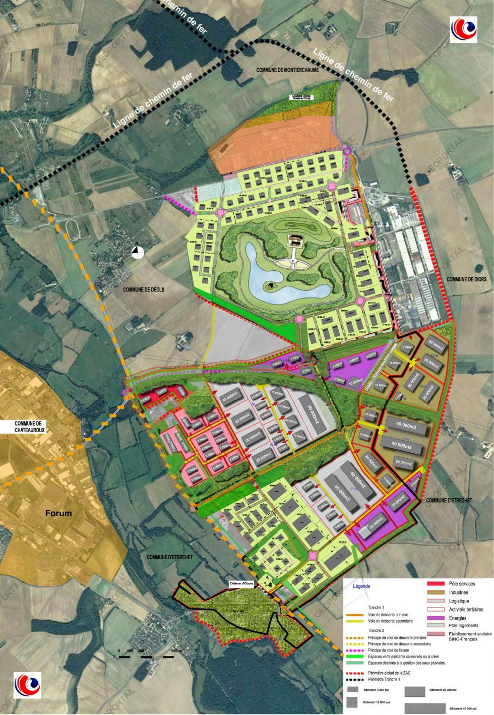 ARVAL architecture - Site d'Ozans et 517è RT – Châteauroux - 2 Arval Châteauroux