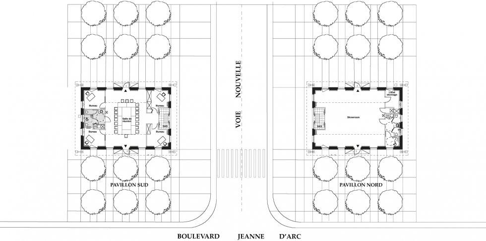 ARVAL architecture - Pavillons d'entrée Caserne Gouraud – Soissons - 2 Arval Pavillons Gouraud Soissons