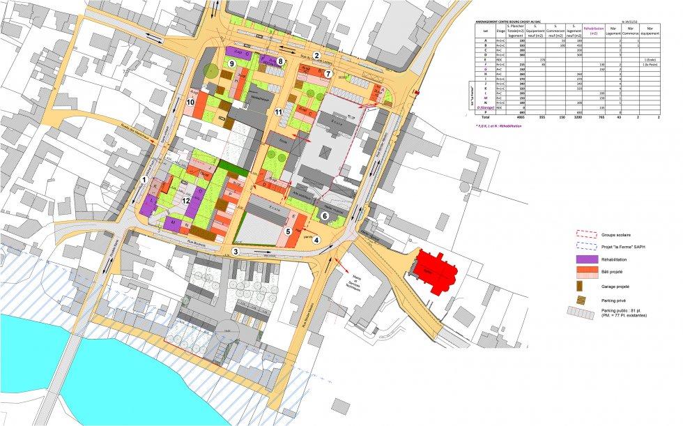 ARVAL architecture - Requalification du Centre Bourg – Choisy-au-bac - 1 Arval centre bourg Choisy au bac