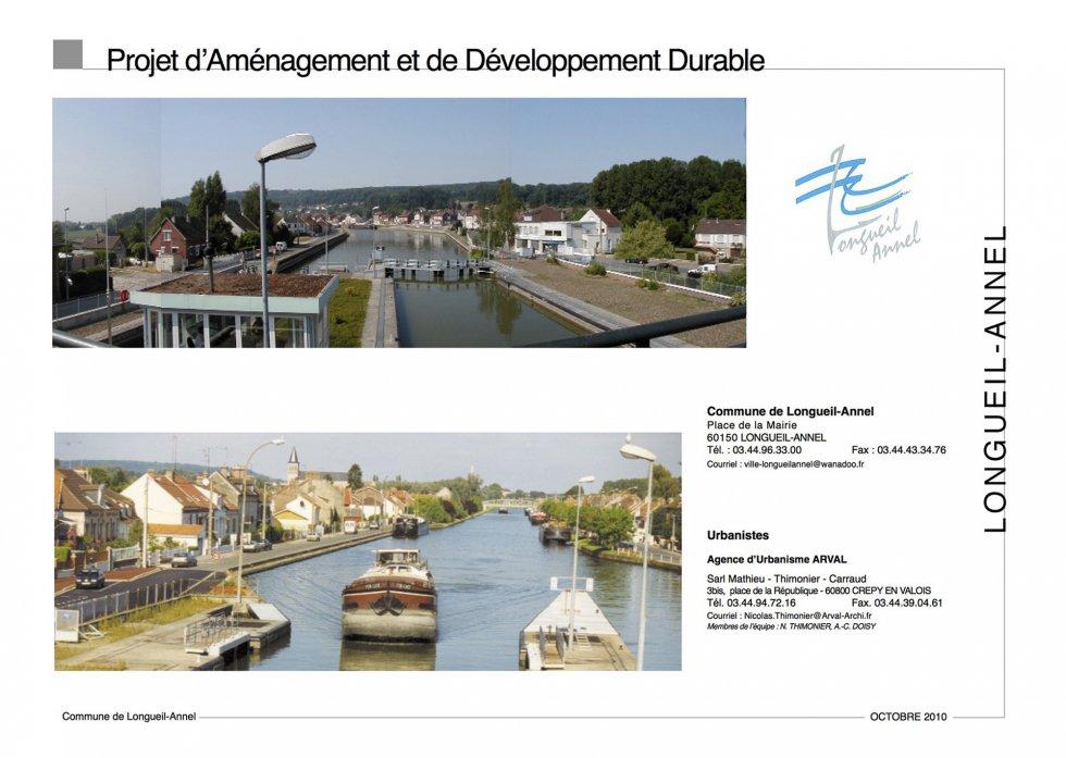 ARVAL architecture - PLAN LOCAL D'URBANISME (PLU) – LONGUEIL-ANNEL (60) - 1 page de garde PADD