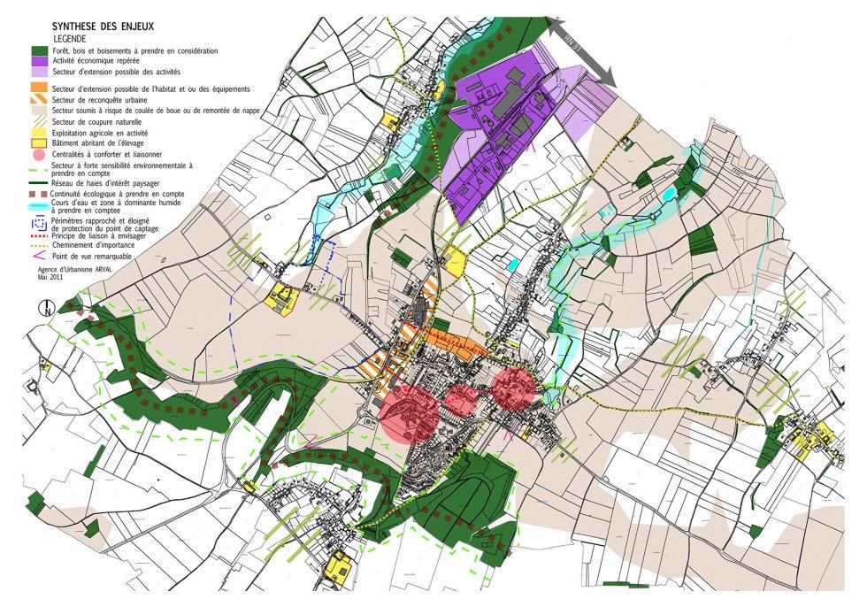 ARVAL architecture - PLAN LOCAL D'URBANISME (PLU) – AUNEUIL (60) - 1 Carte de synthèse des enjeux