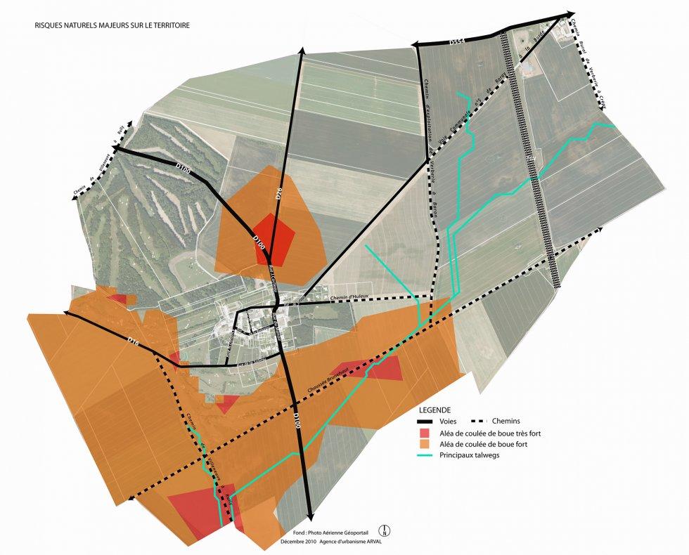 ARVAL architecture - PLAN LOCAL D'URBANISME (PLU) – RARAY (60) - 1 PLU Raray - extrait du diagnostic - carte des risques naturels