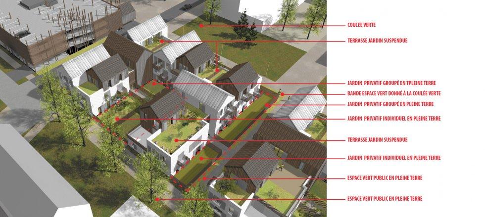 ARVAL architecture - ECOQUARTIER – SENLIS - 4 Arval ecoquartier Senlis