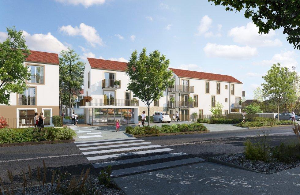 ARVAL architecture - Logements – Plessis Belleville - 2 ARVAL Logements Plessis Bellville - vue sur rue
