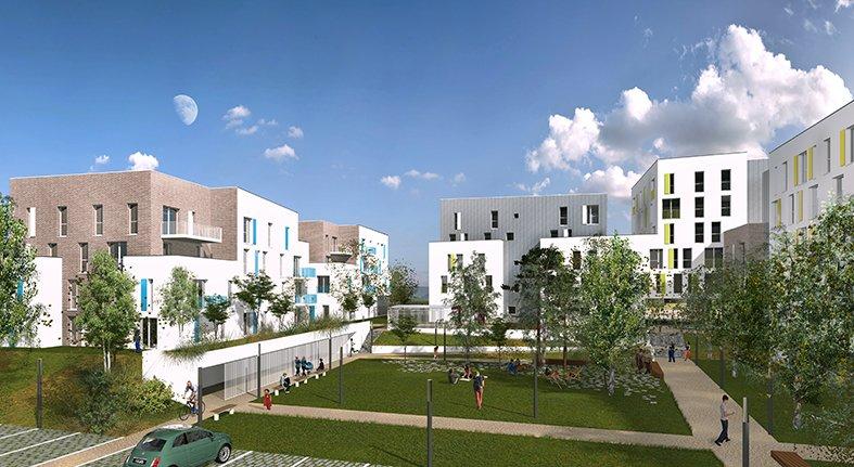 ARVAL architecture - Résidence intergénérationnelle – Amiens - 3 ARVAL Résidence intergénérationnelle à Amiens pers jardin