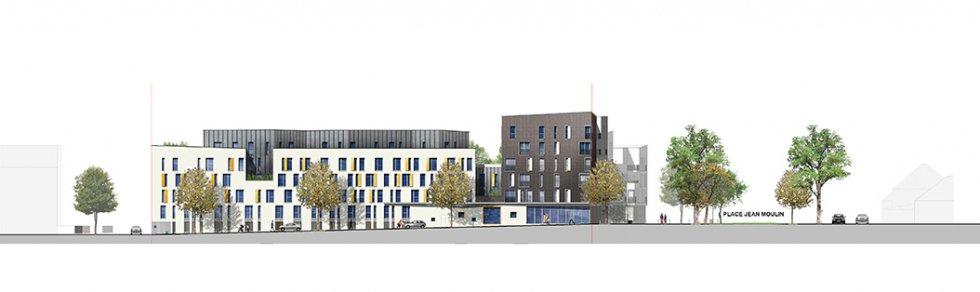 ARVAL architecture - Résidence intergénérationnelle – Amiens - 4 ARVAL Résidence intergénérationnelle à Amiens façade 1